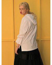Fleamadonna Shirring Hoody - White