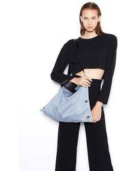 VIVICHO - Suede Shoulder Bag In Blue - Lyst