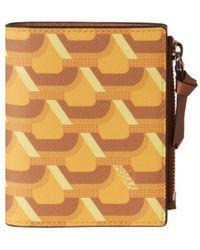 ROSA.K Cabas Monogram Bi Fold Wallet - Yellow