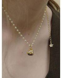 FLOWOOM Comet Pearl Necklace - Metallic
