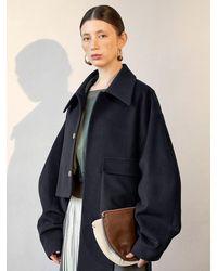 J.CHUNG Olite Unbalance Coat - Blue
