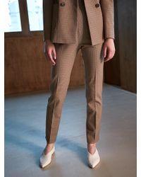 COLLABOTORY - Bacma6001m High Waist Cigarlet Pants Check - Lyst