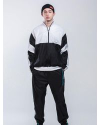 MAHAGRID - Two Tone Track Top Black - Lyst