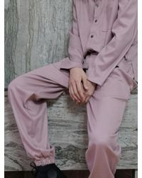W Concept - [unisex] Lounging Pants Dusty Pink - Lyst