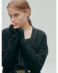 NILBY P Basic Knit Cardigan - Black