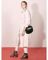 W Concept - [unisex] Cream Leather Collar M51 Jacket - Lyst