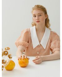 among A Collar Point Blouse - Pink