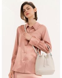 DEMERIEL - Bucket Bag Cream Medium - Lyst