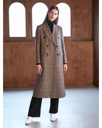 COLLABOTORY - Bacma1001m Classic Trench Coat Check - Lyst