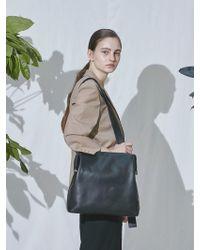 96df7946f812 Eduards Accessories Sweden Näver Big Shoulder Bag In Black Leather ...