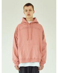 LAYER UNION Serif Lu Over Hoodie - Pink