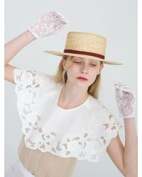 Awesome Needs - Wheat Straw Boater Hat Brick - Lyst