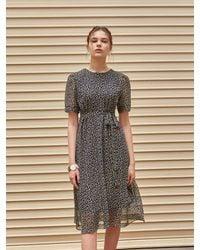 YAN13 Acacia Chiffon Dress - Blue