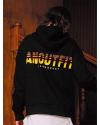 ANOUTFIT Anoufit Artwork Hoodie Black