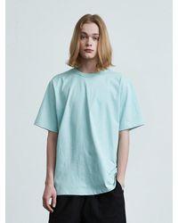 VOIEBIT 16color Premium Cotton T-shirt Sky Blue