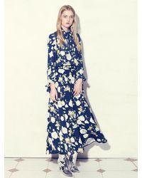 UNTAGE Uws-f04 Camellia Flare Maxi Skirt Navy - Blue
