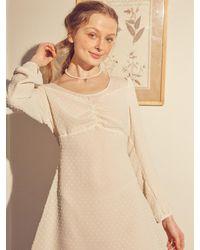 Salon de Yohn Chiffon Layered Mini Dress - White
