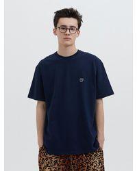WKNDRS W Logo Ss T-shirt Navy - Blue