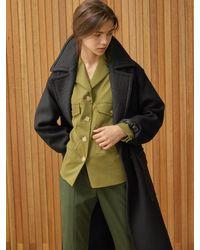 Clue de Clare Pocket Field Jacket - Green