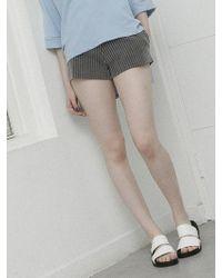 Noir Jewelry Stripe Shorts - Black