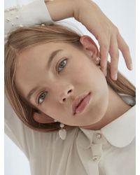 bpb - Heart Drop Earring - Lyst