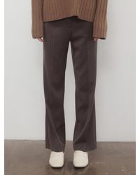 among A Slim Fit Pt Charcoal - Brown