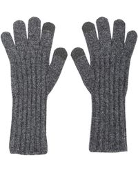 MADGOAT - Cashmere Touch Gloves Melange Gray - Lyst