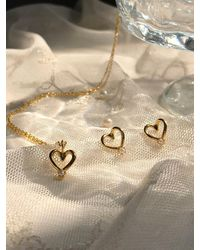 FLOWOOM Heart Petit Necklace - White