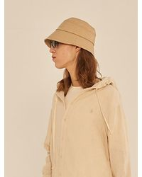 13Month Stitch Faux Leather Bucket Hat - Natural