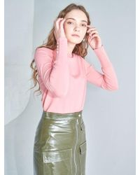 AYIHOLIC CASHMERE - Special Item Pearl Button Knit Top Rose Pink - Lyst