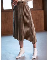 COLLABOTORY - Bacma7008m Double Pleats Wrap Skirts Check - Lyst