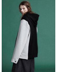 NOHANT - [unisex] Padded Jacket Hoodie Gray - Lyst