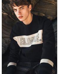 F.ILLUMINATE [unisex] Tend Logo Sweat Shirt Black