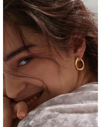 W Concept - Round Doodle Earring - Lyst