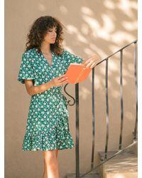 DAZE DAYZ Neroli Wrap Dress - Green