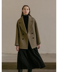 COLLABOTORY Overfit Half Coat - Natural