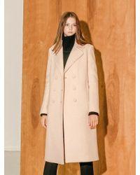 COLLABOTORY - B7cma3009m Pastel Colour Double Coat Light Pink - Lyst