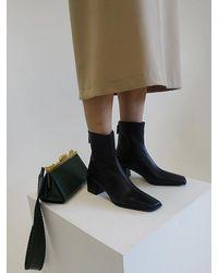 Reike Nen Rl3-sh065 Cube Heel Basic Boots - Black