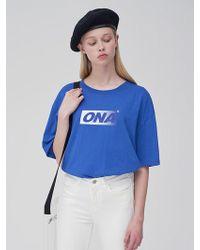 ONA [unisex] Box Gradation T-shirt - Blue