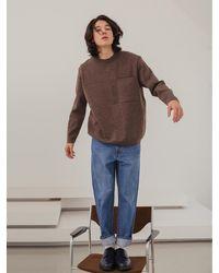 VIABON DE VIA Merino Wool Milano Round Knit - Brown
