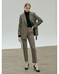 NILBY P Slim Leg Ankle Trouser - Multicolour