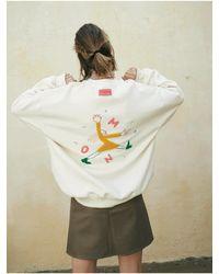 OUI MAIS NON Miss Ouimaisnon Sweatshirts - White