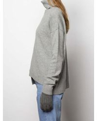 MADGOAT - Textured Cashmere Glove_ Gray - Lyst
