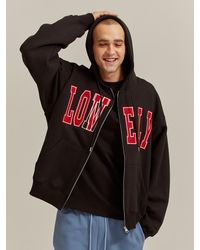 NOHANT - Lonely/lovely Zip-up Hoodie Black - Lyst