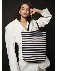 UNDER82 Anne Canvas Bag - Blue