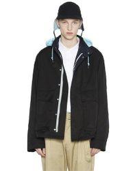 LIFUL MINIMAL GARMENTS - Big Pocket Color Hood Jacket Black - Lyst