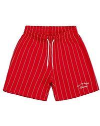 W Concept - [unisex] Dizzee Striped Short Pants (red) - Lyst