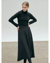 NILBY P High Waisted Volume Skirt - Black