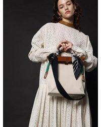 UNDER82 Darlene Canvas Bag L - White