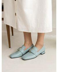 W Concept - [exclusive] Front Buckle Flat Shoes 5 Colour - Lyst